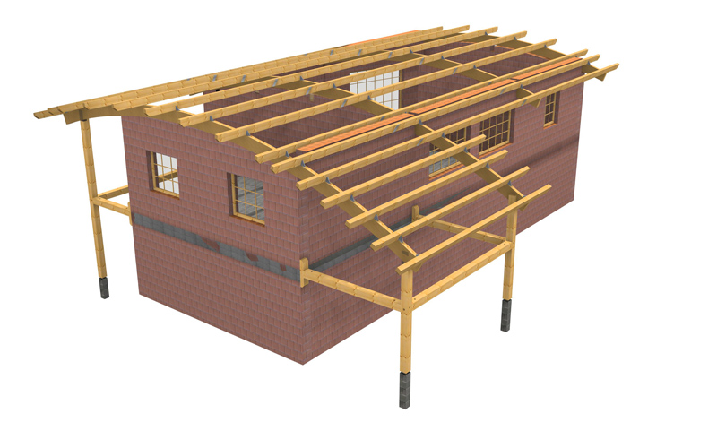 la charpente lamell coll solutions bois merotto. Black Bedroom Furniture Sets. Home Design Ideas